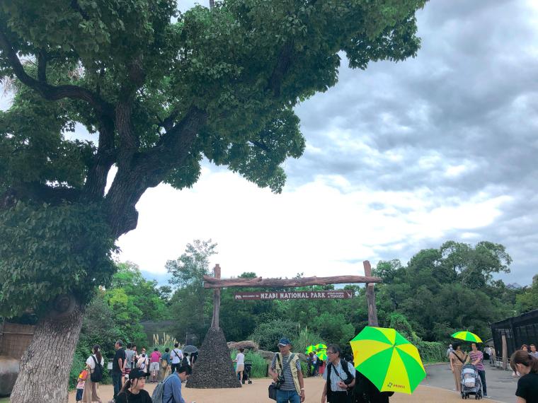天王寺動物園 傘レンタル
