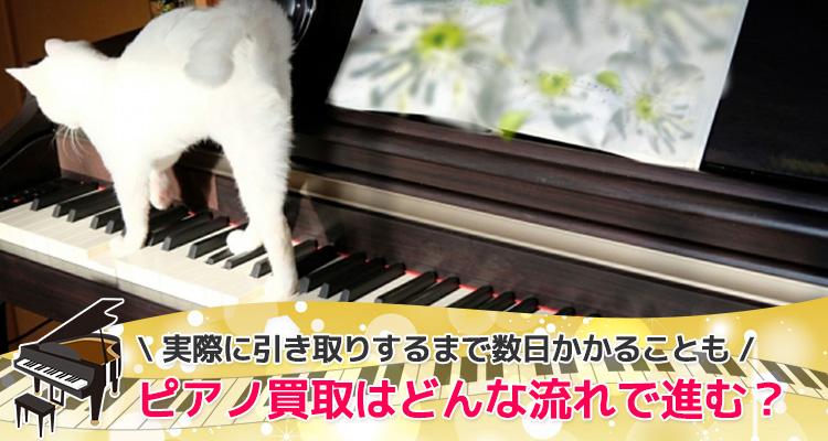 ピアノ買取はどんな流れで進む?